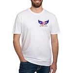 God Bless America Heart Flag2 Fitted T-Shirt