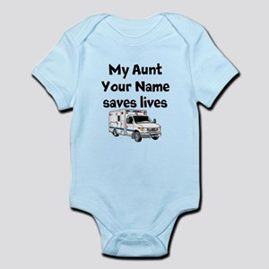 My Aunt Saves Lives Paramedic (Custom) Body Suit