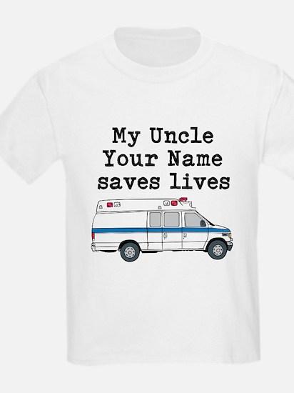 My Uncle Saves Lives Ambulance (Custom) T-Shirt