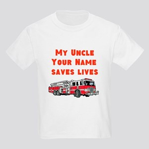 My Uncle Saves Live Fire Truck (Custom) T-Shirt