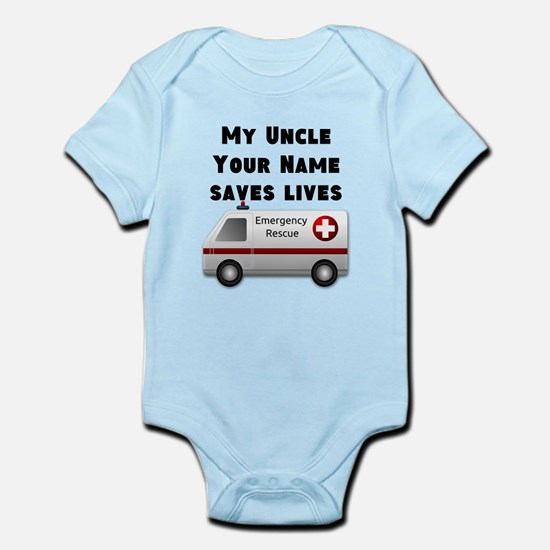 My Uncle Saves Lives Ambulance (Custom) Body Suit