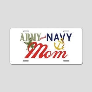 Army Navy Mom Aluminum License Plate