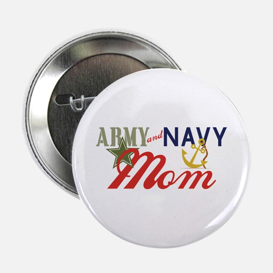 "Army Navy Mom 2.25"" Button"