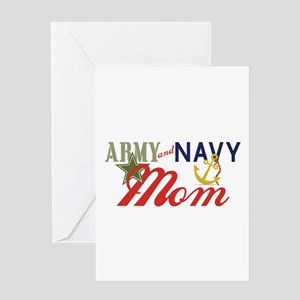 Army Navy Mom Greeting Cards