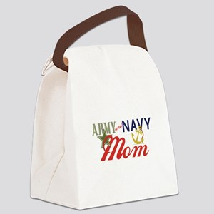Army Navy Mom Canvas Lunch Bag