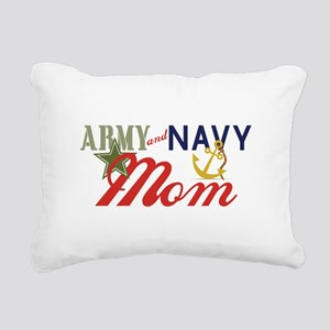 Army Navy Mom Rectangular Canvas Pillow