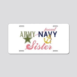 Army Navy Sister Aluminum License Plate