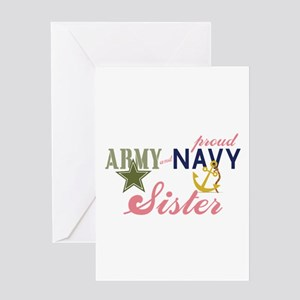 Army Navy Sister Greeting Cards