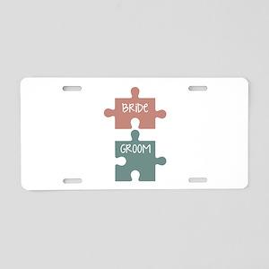 Bride Groom Aluminum License Plate