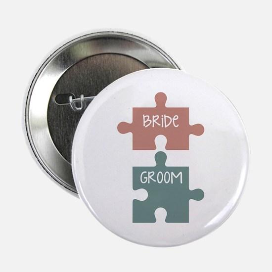 """Bride Groom 2.25"""" Button"""