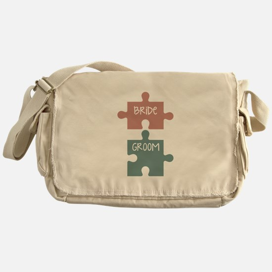 Bride Groom Messenger Bag