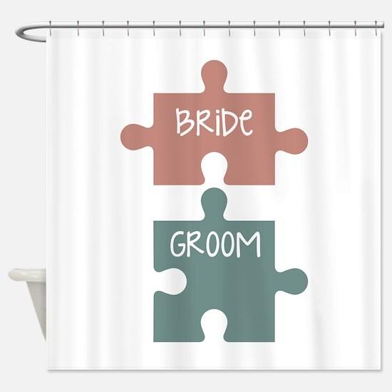 Bride Groom Shower Curtain