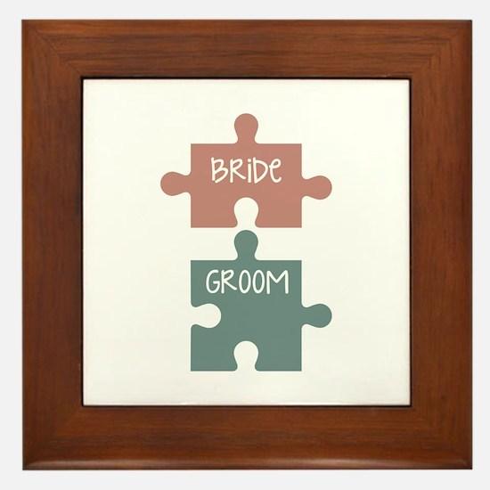 Bride Groom Framed Tile