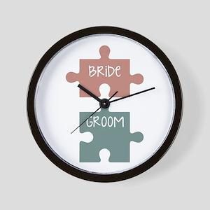 Bride Groom Wall Clock