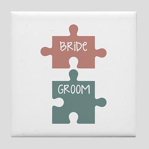 Bride Groom Tile Coaster