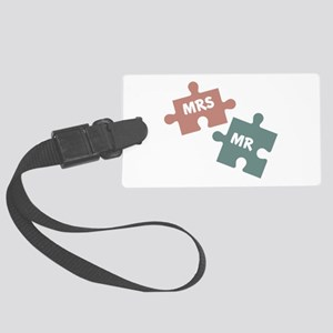 Mr. Mrs. Puzzle Luggage Tag
