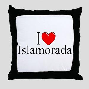 """I Love Islamorada"" Throw Pillow"
