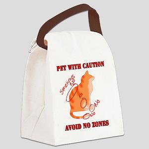 Orange Tabby No Zones Canvas Lunch Bag