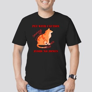 Orange Tabby No Zones Men's Fitted T-Shirt (dark)
