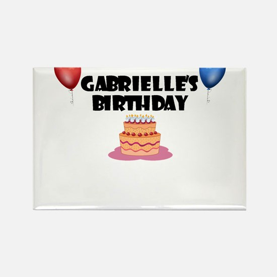 Gabrielle's Birthday Rectangle Magnet