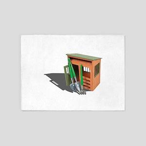GardenShedTools030111 5'x7'Area Rug