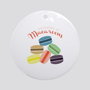 Dreaming of Macaroons Ornament (Round)