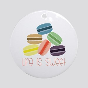 Life is Sweet Ornament (Round)