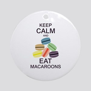 Keep Calm Eat Macaroons Ornament (Round)