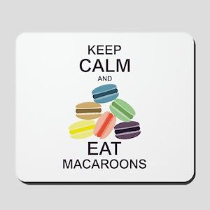 Keep Calm Eat Macaroons Mousepad