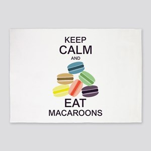 Keep Calm Eat Macaroons 5'x7'Area Rug