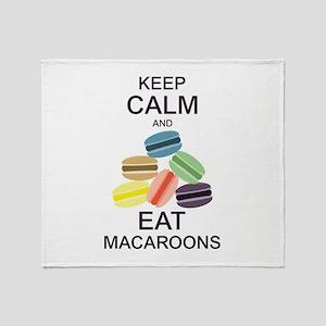 Keep Calm Eat Macaroons Throw Blanket
