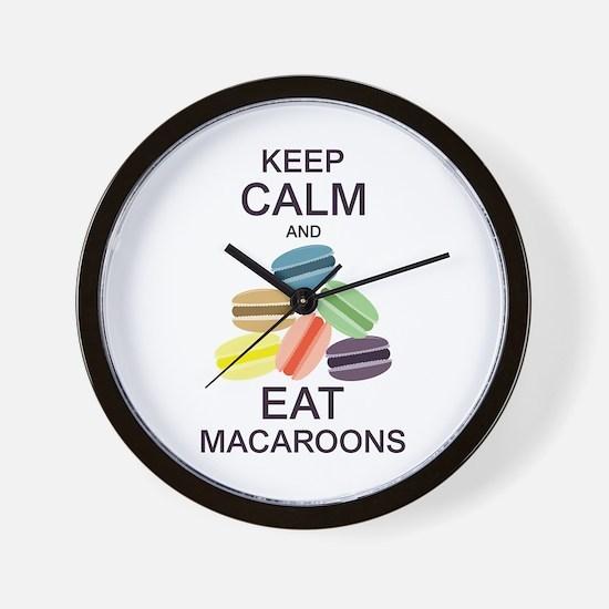 Keep Calm Eat Macaroons Wall Clock