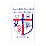 St. Luke's Window Rectangle Sticker