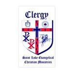St. Luke's Clergy Window Rectangle Sticker