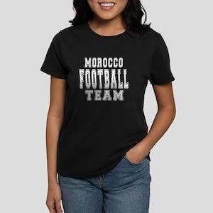 Morocco Football Team Women's Dark T-Shirt