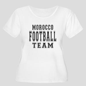 Morocco Footb Women's Plus Size Scoop Neck T-Shirt