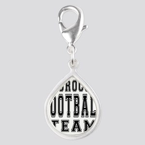 Morocco Football Team Silver Teardrop Charm