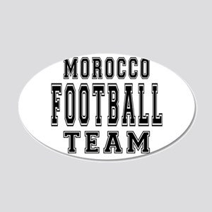 Morocco Football Team 20x12 Oval Wall Decal