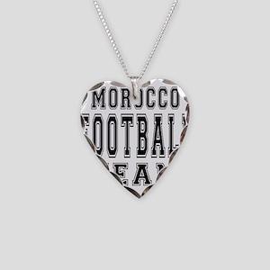 Morocco Football Team Necklace Heart Charm