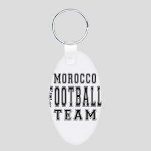 Morocco Football Team Aluminum Oval Keychain
