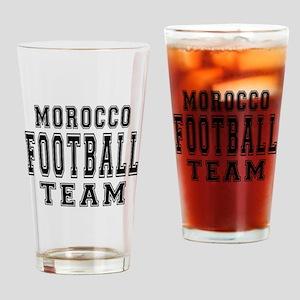 Morocco Football Team Drinking Glass