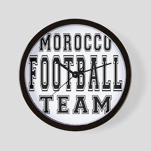 Morocco Football Team Wall Clock