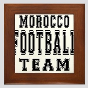 Morocco Football Team Framed Tile