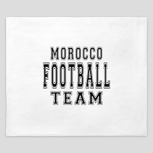 Morocco Football Team King Duvet