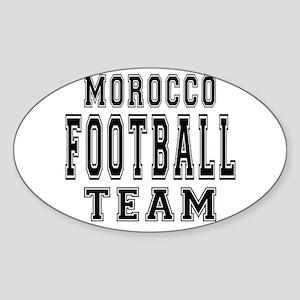 Morocco Football Team Sticker (Oval)