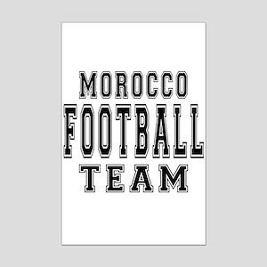 Morocco Football Team Mini Poster Print