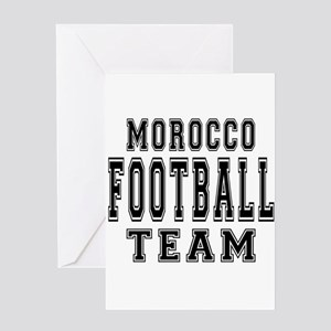 Morocco Football Team Greeting Card