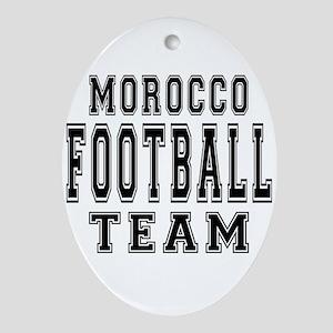 Morocco Football Team Ornament (Oval)