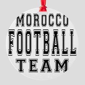 Morocco Football Team Round Ornament