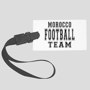 Morocco Football Team Large Luggage Tag